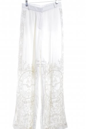 H&M Conscious Collection Stoffhose creme-silberfarben Elegant