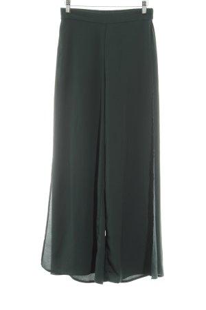 H&M Conscious Collection Stoffhose waldgrün extravaganter Stil