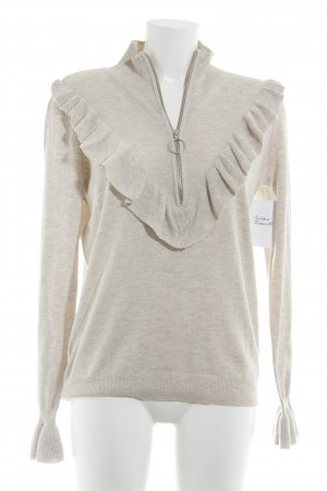 H&M Conscious Collection Strickpullover camel-beige meliert Romantik-Look
