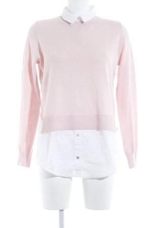 H&M Conscious Collection Strickpullover weiß-hellrosa Elegant