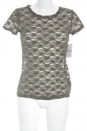 H&M Conscious Collection T-Shirt khaki Romantik-Look