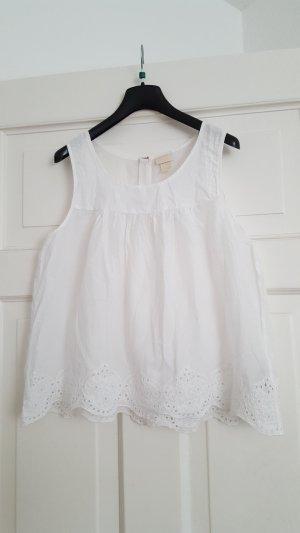 H&M Conscious Collection Blusa bianco-argento Cotone