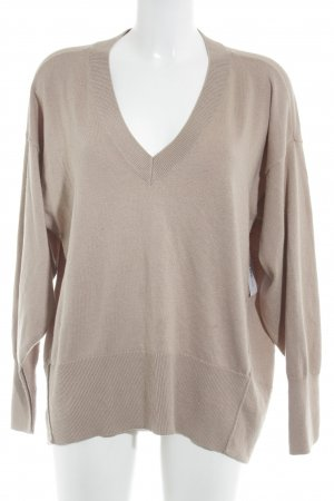 H&M Conscious Collection V-Ausschnitt-Pullover beige Casual-Look