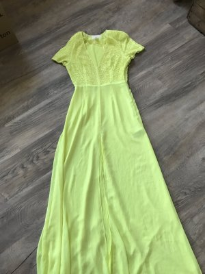 H&M Conscious Exclusive Kleid bodenlang grün/gelb/neon wie NEU