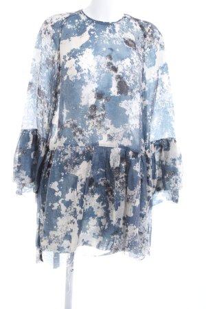 H&M Conscious Exclusive Langarmkleid abstraktes Muster Casual-Look
