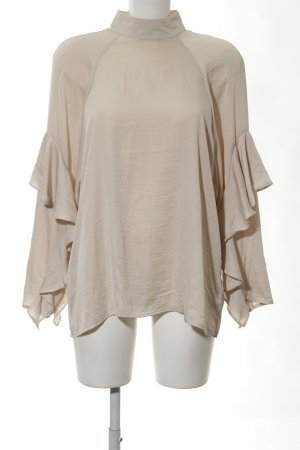 H&M Conscious Exclusive Stand-Up Collar Blouse cream extravagant style