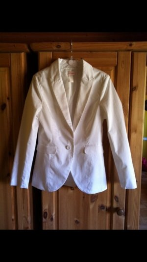 H&M Blazer largo blanco