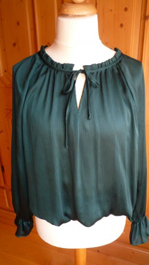H&M Conscious Collection Slip-over blouse donkergroen Polyester