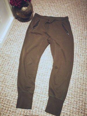 H&M Pantalón abombado ocre tejido mezclado