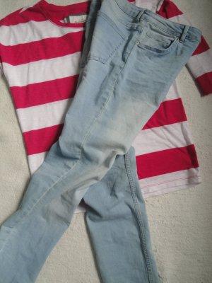 H&M * Coole skinny Jeans * bleached bue denim * 36 wNEU