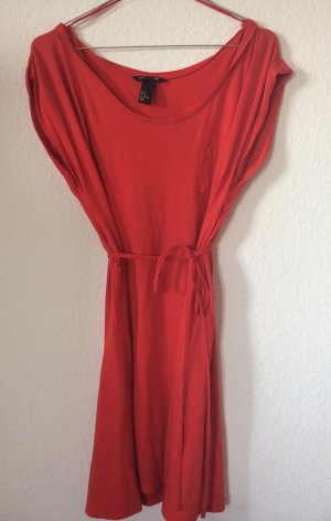 H&M Coral Red Summer Dress