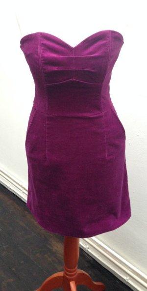 H&M Vestido bandeau violeta amarronado