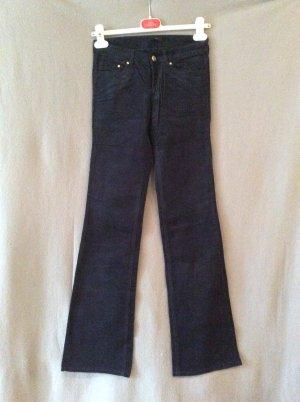 H&M Cord Stretch Schlaghose Gr 34 dunkelblau