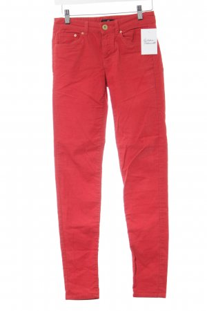 H&M Pantalon en velours côtelé rouge Garniture ornementale