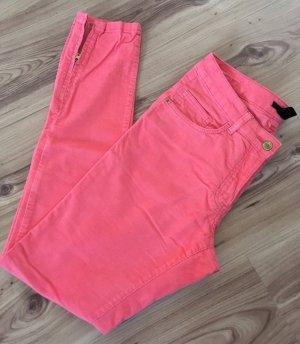 H&M Cordhose XS 34 Pink Slim Fit Hose Skinny Röhrenhose Röhrenjeans Biker Jeans
