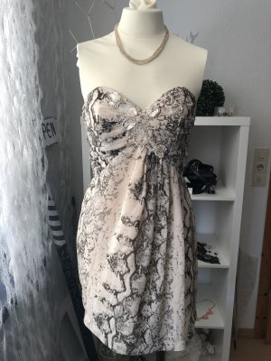H&M Corsage in beige grau Gr. 36 Sommerkleid
