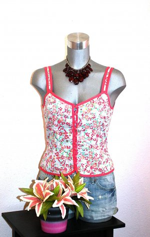 H&M Corsage Top gr. 38/40 Blusen Top Flower Print