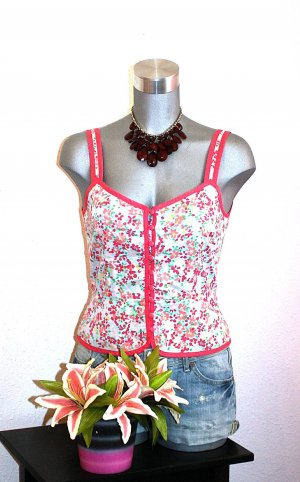 H&M Corsage Top gr. 38 Blusen Top Flower Print