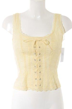 H&M Haut type corsage jaune primevère style décontracté