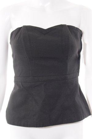 H&M Corsage topje zwart gothic uitstraling