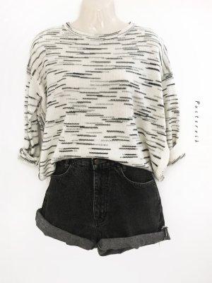 H&M Cozy Oversize Strick Pulli Pullover Melange Schlitz an den Seiten Trend