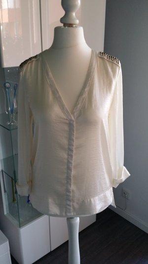 H&M cremefarbene Bluse Größe 36