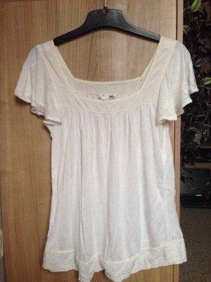 H&M Cremefarbenes T-Shirt Größe XS