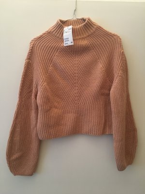 H&M Crop Pullover Rosa Nude XS 34 Strick