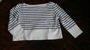 H&M Crop Shirt blau weiß Streifen bauchfrei S