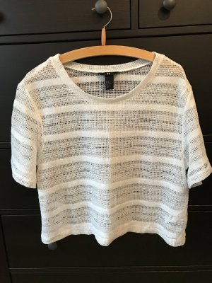 H&M Cropped shirt wit