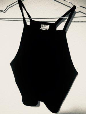 H&M Crop-top noir tissu mixte