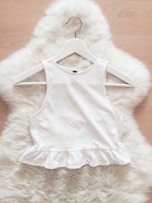H&M Crop Top Blogger Shirt Raffung Gr.XS