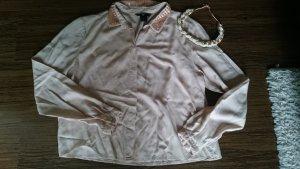 H&M Cropped Bluse Viskose nude 36
