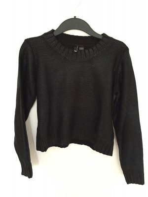 H&M cropped Pullover mit Glanz Finish