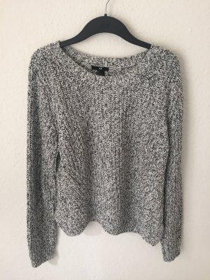 H&M Cropped Pullover schwarz weiß