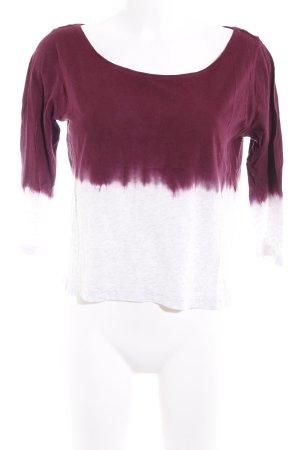 H&M Cropped shirt braambesrood-lichtgrijs kleurverloop casual uitstraling