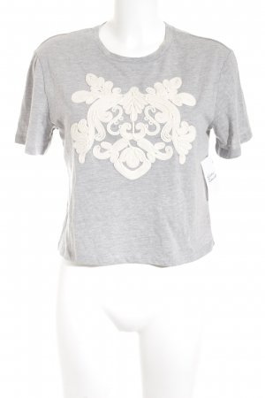 H&M Cropped Shirt grau-creme Street-Fashion-Look