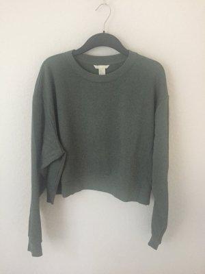 H&M cropped Sweater Grün