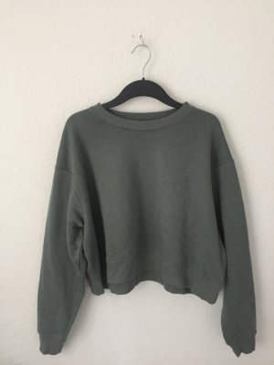 H&M cropped Sweatshirt Grün