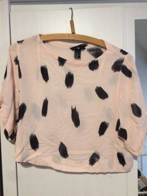 H&M cropped T-shirt Rosa
