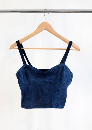 H&M Divided Top corto blu Cotone