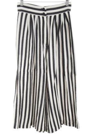H&M Culotte noir-blanc motif rayé style décontracté