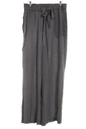 H&M Culotte noir-blanc imprimé allover style décontracté