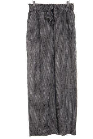 H&M Culotte noir-blanc cassé imprimé allover style décontracté