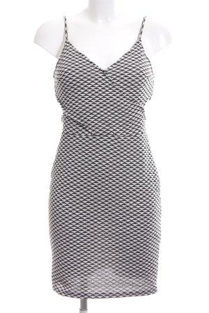 H&M Vestido cut out negro-blanco estampado repetido sobre toda la superficie