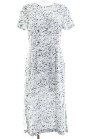 H&M Cut-Out-Kleid graugrün-graublau abstraktes Muster schlichter Stil
