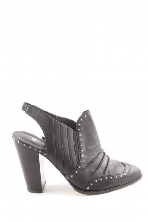 H&M Cut Out Booties black casual look