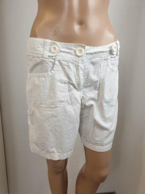 5c47a87543433 H&M Damen Baumwoll Shorts Caprihose Jeansshorts weiß Größe 38