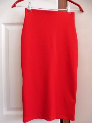 H&M Pencil Skirt red