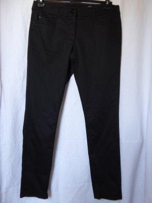 H&M - Damen-Hose, schwarz - Gebraucht, fast wie neu
